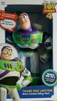 """Toy Story 4 Talking Buzz Lightyear Motion Activated  14"""" Plush"""