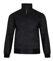 Lee Cooper Mens Harrington Jacket Retro Bomber Coat Mod Skin Scooter Black