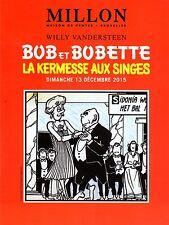 BOB ET BOBETTE VANDERSTEEN LUXUEUX CATALOGUE VENTE ENCHERES MILLON BRUXELLES