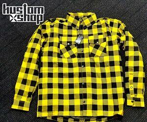 Kevlar flannel/Motorcycle kustomshop shirt. Lined with DuPont™ KEVLAR® YEL XL