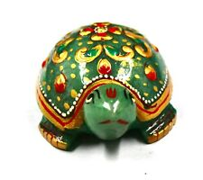 Natural Aventurine Green Golden Traditional Handwork on Single Beautiful Turtle