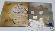 2015 LITUANIA 8 monete 3,88 euro fdc bu Lituanie Lithuania Litauen Lietuva Литва