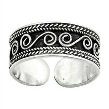 925 Best Jewelry Face Height 6 mm Bali Design Toe Ring Solid Sterling Silver