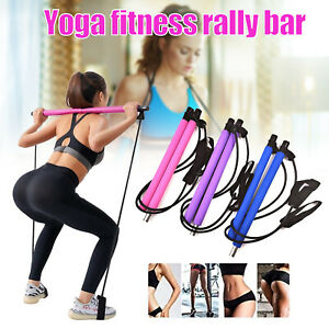 Portable Pilates Stretch Rope Gym Stick Yoga Exercise Bar Pilates Trainer Tools
