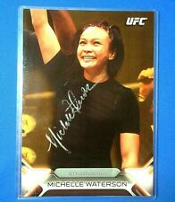 "*MICHELLE WATERSON* >AWESOME SIGNED ""SILVER"" AUTO< !! TOPPS UFC $ *(XRARE(#/10)*"