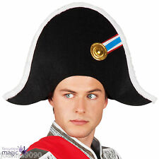 Adulte Noir Napoléon Bonaparte français commandant Fancy Dress Costume chapeau de pirate