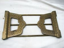 Early Cast Iron Expanding Book Rack Holder Bookrack Ornate Art Deco Bookends End