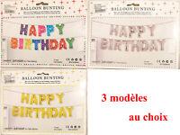 Ballon Anniversaire Aluminium HAPPY BIRTHDAY 3 Motif au Choix