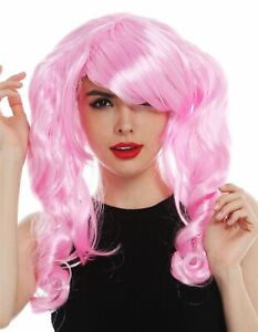 Wig Ladies Carnival Cosplay Gothic Lolita Girly Style Long Pigtails Pink