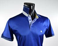 Polo Raffinata maniche corte Vela Blu Made in Italy 100% Cotone Filo di Scozia