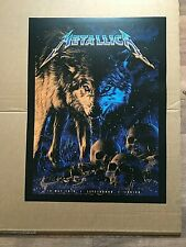 Metallica Zurich 10 May '19 official concert litho print new Letzigrund Zurich
