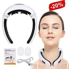 UK Electric Pulse Back and Neck Massager Far Infrared Heating Pain Relief Tool