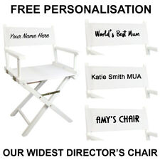 White Premium Director's Chair FREE PERSONALISATION