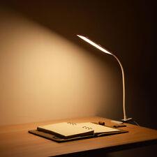 USB Flexible Schreibtischlampe Clip On Reading Light Table Desk Dimmbar Lampe