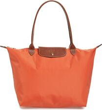 Longchamp Le Pliage Classic Large Nylon Shoulder Tote Orange Authentic