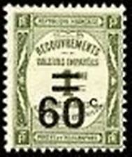 "FRANCE STAMP TIMBRE TAXE YVERT 52 "" RECOUVREMENT 60c s. 1c OLIVE "" NEUF xx TTB"