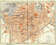 PROVENCE. Nimes 1926 old vintage map plan chart