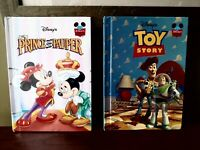 Lot of 2 Wonderful World of Disney Vintage Books Toy Story, Prince & the Pauper