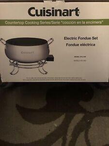 Cuisinart Model CFO-3SS Electric Fondue Pot with forks New w/o box instructions