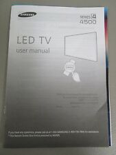 SAMSUNG LED TV SERIES 4 4500 USER MANUAL NEW