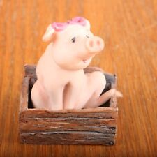 Schmid Pig In Crate Figurine Scotland Vintage