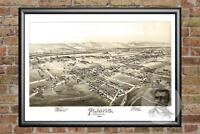 Old Map of Plains, PA from 1892 - Vintage Pennsylvania Art, Historic Decor