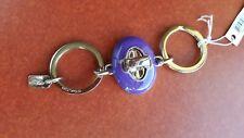 COACH purple Turnlock Valet Keyring-Keychain