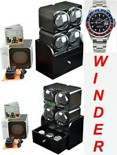 BOXY CARBON FIBRE LOOK Fancy Brick Quad Automatic Watch Winder:4FCF-4B2