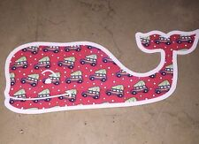 "Authentic Vineyard Vines Christmas Whale Sticker 4 1/2"" X 1 7/8"""