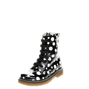MALIP Kids Combat Boots EU 28 UK 10 US 11 Varnished Effect Coated Made in Italy