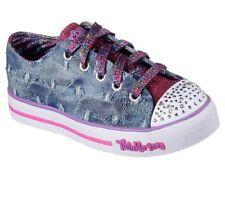 NEW SKECHERS Girls Sneakers Memory Foam STEP UP- DIGGIN' DENIM Denim *light up*