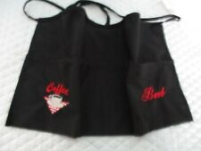 Coffee Cup Embroidered Server Waitress Waist Apron Name Free Lady Pizazz