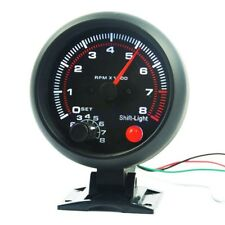 """3.75"""" Universal Auto Zusatzinstrument Drehzahlmesser DZM Shift-Light 8000 RPM GE"""