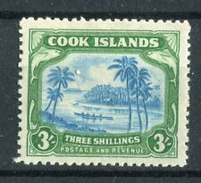 Cook Islands KGVI 1944-46 3/- greenish blue & green SG145 mm