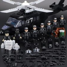 SWAT Military Army WW2 Helicopter Navy Seals Forces Fir Lego Team Soldier