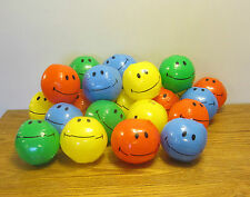 "12 NEW MINI SMILE FACE BEACH BALLS 7"" INFLATABLE POOL BEACHBALL PARTY FAVORS"