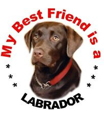 2 Chocolate Labrador Car Stickers By Starprint