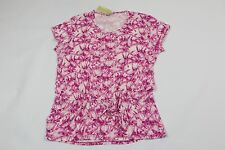 NWT- MICHAEL KORS Radiant Pink / White Tie Dye Short Sleeve Blouse Top Sz 2X