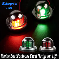 2x 12V Red/Green LED Navigation Signal Light Lamp Ass for Marine Boat Yacht Ship