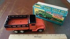 Vintage haji tin friction powered live stock truck made in japan in box tin toy