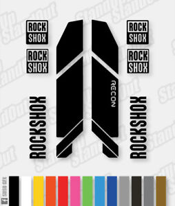 Rockshox RECON 2013 Style Replacement Decals - Custom / Fluorescent Colour