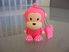 Pendrive USB 8GB Pen Drive 8 GB mono rosa Muñeco animales dibujos animado