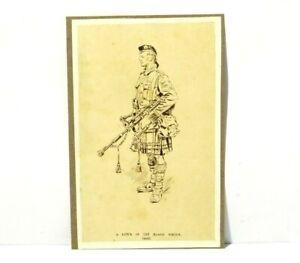 Original Ink Drawing Piper of the Black Watch 1925 RG Harris Archive #RG7