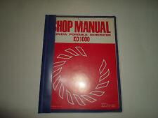 1978 Honda ED1000 Portable Generator Shop Manual MISSING COVER BINDER OEM DEAL