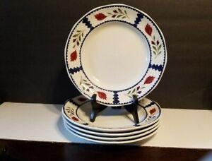"Set of 5 ADAMS LANCASTER Real ENGLISH IRONSTONE 10"" Dinner Plates  - A1"