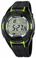 Calypso Uhr by Festina Herren Digital K5627/4 schwarz 10 ATM Datum
