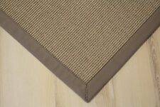 Sisal Teppich Salvador mit Bordüre creme stein 200x250 cm 100% Sisal
