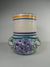 Early Vintage Pool Pottery Grapes Pattern Vase. Circa. 1921-34.