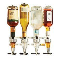 Wyndham House 4 Bottle Drink Dispenser Alcohol Bar Beverage Whiskey Shot Gift