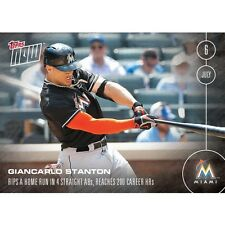 2016 Topps Now #218 Giancarlo Stanton  In Hand  FREE Shipping  Print Run: 335